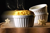 Orange soufflé (straight from the oven)