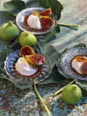 Figues au chèvre (braised figs with fresh goat's cheese)