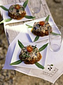Marinated sardines with aubergines (France)