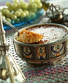 Sweet rice pudding, Middle Eastern style, with cinnamon