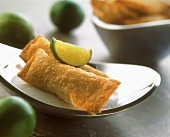 Lime and apple turnover