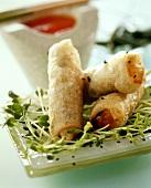 Deep-fried rice paper rolls
