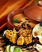 Vegetable pakodas (or pakoras, vegetable fritters)