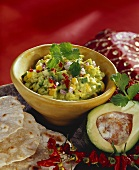 Kaskay tondi (avocado and sweetcorn dip, India)