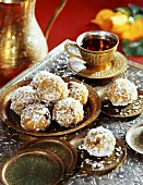 Besan laddoo (sweet chick-pea flour balls, India)