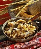Subha prabhat (spelt porridge, India)