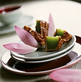 Moon cake (cake filled with fruit pulp, China)