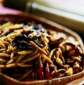 Deep-fried insects (zhu chong, tiao cai and feng yong, China)
