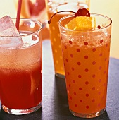 'Campari Fresh' and 'Orange Fizz' (Campari cocktails)