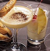 'Italian Colada' and 'Tiramisu Martini' (brandy drinks)