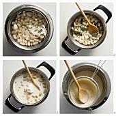 Making white bean soup