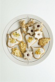 Christmas biscuits in nut pastry