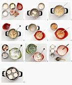 Making semolina pudding