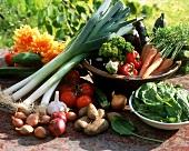 Still life with summer vegetables