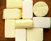 Various types of butter