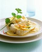 Lengfisch in Zitronensauce