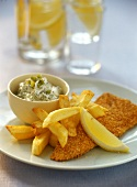 Fish and Chips mit Sauce Tartare