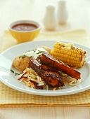 Spare-ribs with corncob