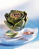 Artichoke with tomato mayonnaise
