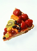 A piece of fruit tart