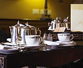Table laid for tea in the 'Merrion', Dublin, Ireland