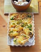 Potato and vegetable quiche