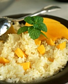 Mango rice with coconut milk