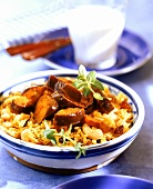 Middle Eastern pan-cooked rice dish