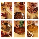 Making lamb curry