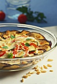 Vegetable gratin (aubergines, courgettes, tomatoes, mozzarella)