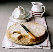 Shortbread, a piece cut