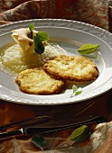 Potato pancake with apple puree
