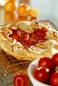 Red plum tart