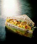 Curried pork sandwich
