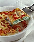 Crespelle al forno (Baked filled crepes au gratin)