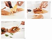 Hähnchenbrust mit Pilz-Gemüse-Füllung zubereiten