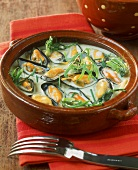 Mussel soup with pastis and tarragon