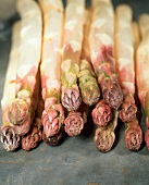 Purple asparagus (white asparagus with purple tips)