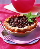Small blueberry tart
