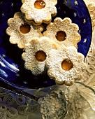 Spitzbuben (jam biscuits) with orange jam
