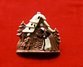 Christmas chocolate in shape of a gingerbread house