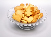 Christmas biscuits on glass plate