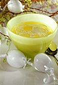 Lemon soup with chicken for Easter