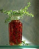Red wine vinegar with rosemary