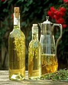 Three herbal body oils