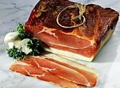 Smoked raw ham