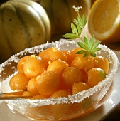 Marinated melon balls