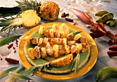 Turkey kebabs with exotic fruits