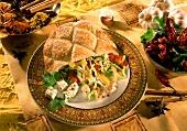 Gefülltes Pitabrot mit Schafskäse und Gemüse