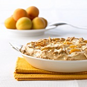 Apricot rice pudding with meringue